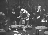 A scene from a performance Apache Korbowski, traumatised lover of the Lady, is undergoing great mental suffering... A group scene photo Edward Węglowski