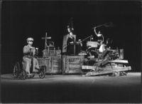 A scene from the play The final creation by Master Veit Stoss: a BARRICADE!  A group scene   photo Marek Grotowski