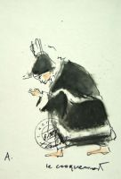 """Croque-mort - """"Maszyna miłości i śmierci"""", 1987 w zbiorach Museo Internazionale delle Marionette, Palermo"""