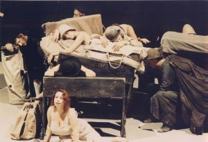 "A scene from the play Year 1975. ""The Dead Class"" A group scene  photo Tommaso Le Pera"