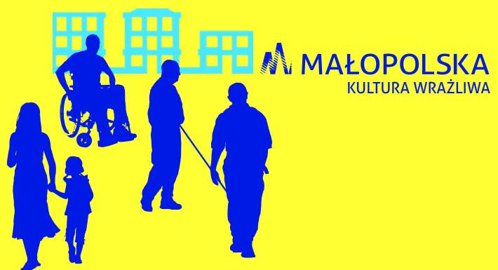 Baner promujący program Kultura Wrażliwa Urzędu Marszałkowskiego Województwa Małopolskiego