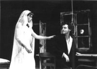 "A scene from the play ""She"": Marie Vayssiere ""He"": Jean-Marc Novis photo Patrick Argirakis"