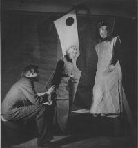 Rehearsal for a performance. Tadeusz Kantor, Ewa Siedlecka, Maria Proszkowska - Krasicka photo W. Witaliński