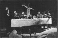 A scene from the play Act Five. A Christmas Carol  A group scene photo Maciej Sochor