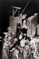 "The Cabaret Whore - the Angel of Death, ""Let the Artists Die"", 1985; owned by Cricoteka"