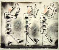 Służące, projekt Maszyna miłości i śmierci, 1987, w zbiorach Muzeum Marionetek, Palermo
