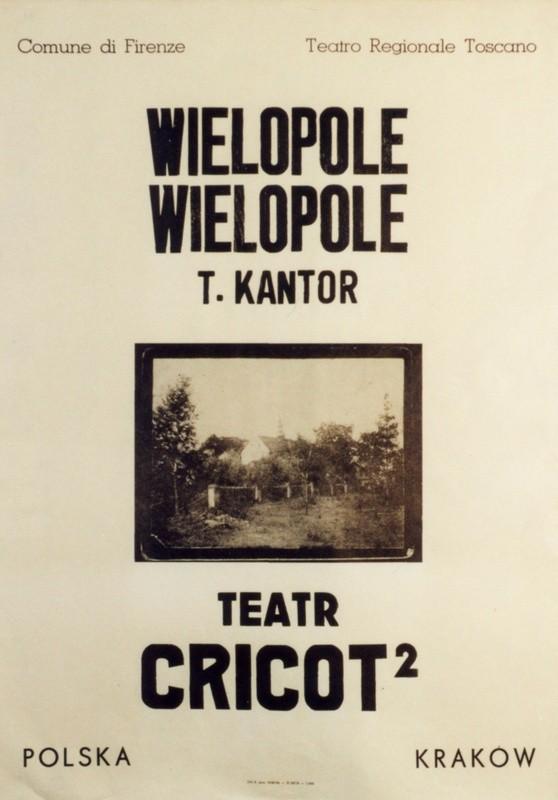 Biały plakat ze zdjęciem Wielopola