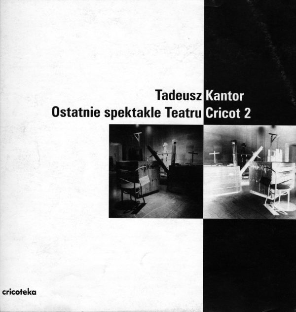 Czarno-biała okładka ze zdjęciami scenografii Kantora