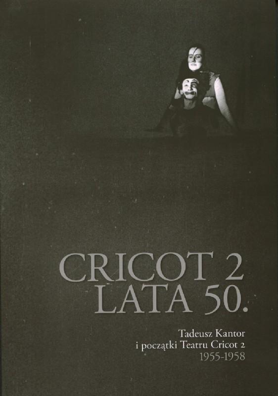 Czarna okładka ze zdjęciem postaci ze spektaklu
