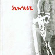 Okładka z czerwonym napisem Szwacz i zdjęciem obrazu