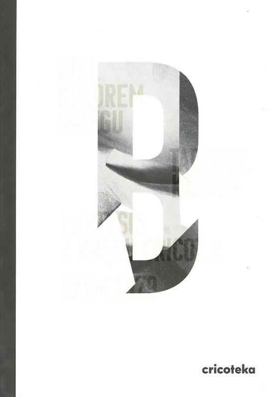 Biała okładka z dużą literą B