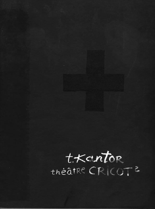 Czarna okładka z białym napisem t.kantor Theatre cricot2
