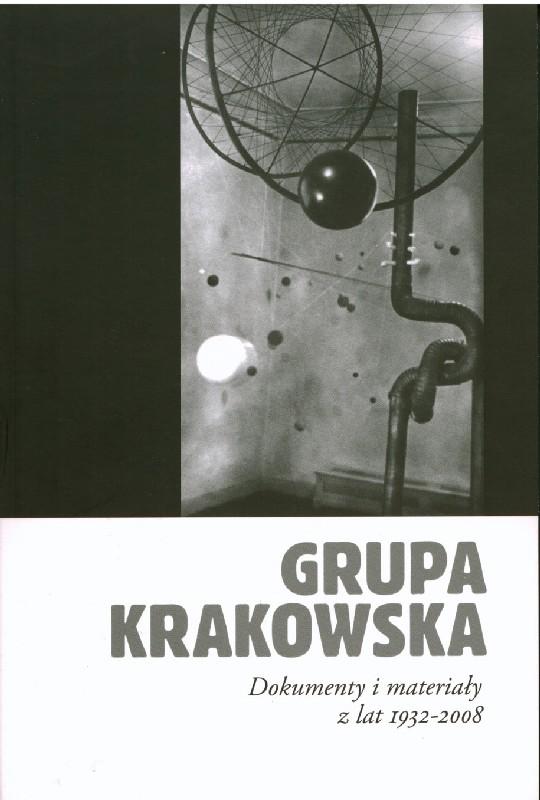 Czarno-biała okładka ze zdjęciem obiektów Grupy Krakowskiej