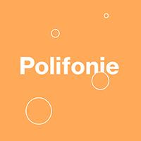 Grafika z napisem Polifonie