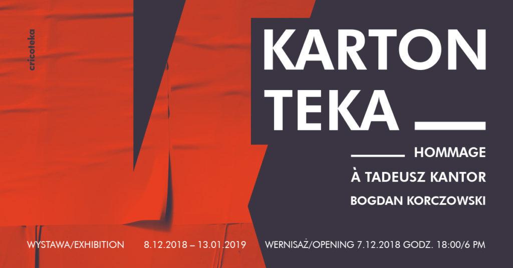 Banner informujący o wystawie Bogdana Korczowskiego