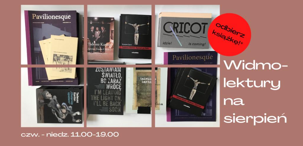 [AD: grafika przedstawiająca ksiązki na rózowym tle oraz napis: Widmo-lektury na sierpień.]
