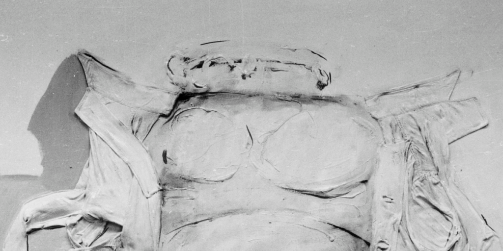 Fragment obrazu Emballage VI Tadeusza Kantora.